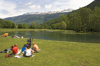 Swimming Lake nr Aime, 20 mins drive from chalet